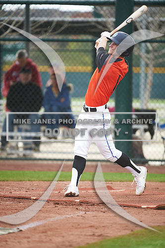 Zach Orn (1) of Eastside Jr/Sr High High School in Hamilton, Indiana during the Under Armour All-American Pre-Season Tournament presented by Baseball Factory on January 15, 2017 at Sloan Park in Mesa, Arizona.  (Art Foxall/Mike Janes Photography)
