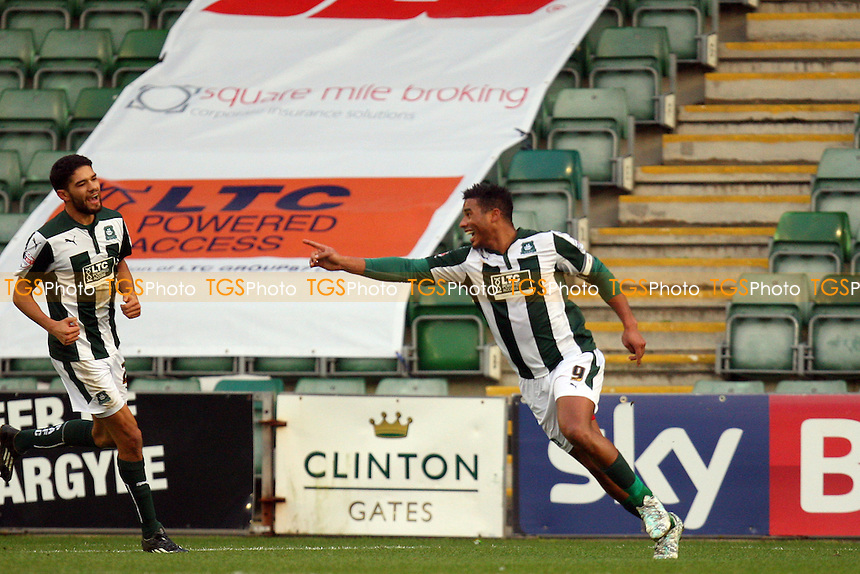 Reuben Reid of Plymouth Argyle celebrates scoring the opening goal - Plymouth Argyle vs Dagenham and Redbridge - SkyBet League Two action at the Home Park Stadium on 20/12/2014 - MANDATORY CREDIT: Dave Simpson/TGSPHOTO - Self billing applies where appropriate - 0845 094 6026 - contact@tgsphoto.co.uk - NO UNPAID USE