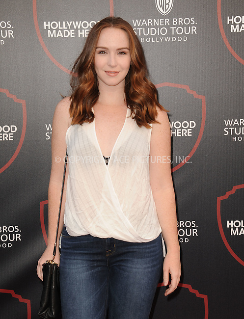WWW.ACEPIXS.COM<br /> <br /> July 14 2015, Los Angeles Ca<br /> <br /> Camryn Grimes arriving at the Warner Bros. Studio Tour Hollywood Expansion Official Unveiling on July 14 2015 in Los Angeles California.<br /> <br /> Please byline: Peter West/ACE Pictures<br /> <br /> ACE Pictures, Inc.<br /> www.acepixs.com<br /> Email: info@acepixs.com<br /> Tel: 646 769 0430