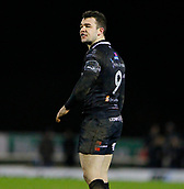 9th February 2018, Galway Sportsground, Galway, Ireland; Guinness Pro14 rugby, Connacht versus Ospreys; Ospreys Scrum Half Tom Habberfield