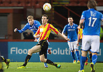 Partick Thistle v St Johnstone....21.01.14   SPFL<br /> David Wotherspoon's effort goes just over the bar<br /> Picture by Graeme Hart.<br /> Copyright Perthshire Picture Agency<br /> Tel: 01738 623350  Mobile: 07990 594431