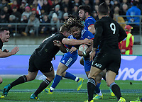France's Mathieu Bastareaud in action during the Steinlager Series international rugby match between the New Zealand All Blacks and France at Westpac Stadium in Wellington, New Zealand on Saturday, 16 June 2018. Photo: Dave Lintott / lintottphoto.co.nz