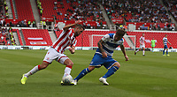 Stoke City's Tommy Smith and Queens Park Rangers' Ryan Manning <br /> <br /> <br /> Photographer Stephen White/CameraSport<br /> <br /> The EFL Sky Bet Championship - Stoke City v Queens Park Rangers - Saturday 3rd August 2019 - bet365 Stadium - Stoke-on-Trent<br /> <br /> World Copyright © 2019 CameraSport. All rights reserved. 43 Linden Ave. Countesthorpe. Leicester. England. LE8 5PG - Tel: +44 (0) 116 277 4147 - admin@camerasport.com - www.camerasport.com