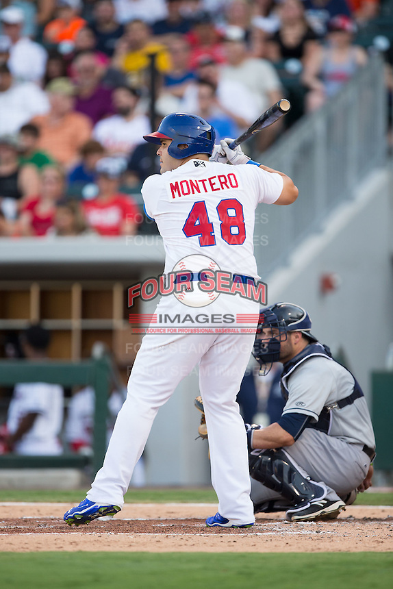 International League All-Star Jesus Montero (48) of the Buffalo Bisons at bat against the Pacific Coast League All-Stars at the 29th Annual Triple-A All-Star Game at BB&T BallPark on July 13, 2016 in Charlotte, North Carolina.  The International League defeated the Pacific Coast League 4-2.   (Brian Westerholt/Four Seam Images)