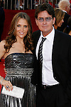 LOS ANGELES, CA. - September 21: Actor Charlie Sheen (R) and Brooke Allen  arrive at the 60th Primetime Emmy Awards at the Nokia Theater on September 21, 2008 in Los Angeles, California.