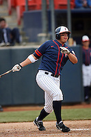 February 22 2009: Nick Ramirez of the CSUF Titans during game against the TCU Horned Frogs at Goodwin Field in Fullerton,CA.  Photo by Larry Goren/Four Seam Images