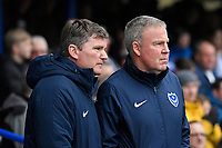 Portsmouth Manager Kenny Jackett right with assistant Joe Gallen during Portsmouth vs AFC Wimbledon, Sky Bet EFL League 1 Football at Fratton Park on 11th January 2020