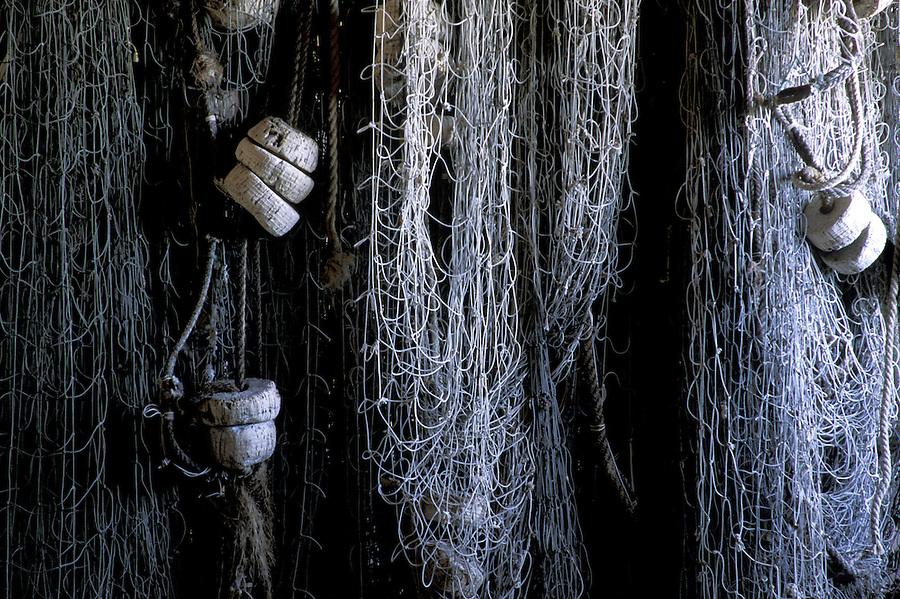 Fishing nets, Broom Point Fishing Exhibit, Gros Morne National Park, Newfoundland, Canada