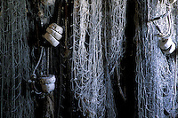 Fishing nets, Broom Point Fishing Exhibit, Gros Morne National Park, Newfoundland, Canada
