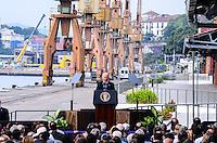 RIO DE JANEIRO, RJ, 29 DE MAIO DE 2013 -JOE BIDEN, VICE-PRESIDENTE DOS ESTADOS UNIDOS, NO BRASIL- Vice-presidente dos Estados Unidos, Joe Biden, que fez um discurso sobre as relações Brasil-Estados Unidos, no Píer Mauá, no Centro. A visita faz parte de uma viagem de seis dias, que já passou pela Colômbia e Trinidad e Tobago, e tem o objetivo de discutir questões bilaterais, regionais e globais, como crescimento econômico, desenvolvimento, acesso a energia colaboração em segurança. O governador do Rio, Sérgio Cabral, também esteve presente. . FOTO:MARCELO FONSECA/BRAZIL PHOTO PRESS