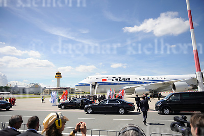 July 06-17,HH Airport, Hamburg,Germany<br /> G20 world leaders arrival at Hamburg Airport.<br /> Chinese leader Xi Jinping und chinese First Lady Peng Liyuan arrive