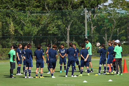Japan Women's team group (JPN), <br /> SEPTEMBER 6, 2016 - Football / Soccer : <br /> Japan Women's National team training camp <br /> in Chiba, Japan. <br /> (Photo by YUTAKA/AFLO SPORT)