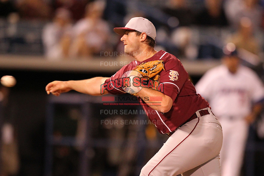 """Florida State Seminoles Daniel Bennett #20 during a game vs. the Florida Gators in the """"Florida Four"""" at George M. Steinbrenner Field in Tampa, Florida;  March 1, 2011.  Florida State defeated Florida 5-3.  Photo By Mike Janes/Four Seam Images"""