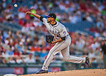 29 July 2017: Colorado Rockies pitcher German Marquez on the mound against the Washington Nationals at Nationals Park in Washington, DC. The Rockies defeated the Nationals 4-2 in the first game of their 3-game weekend series. Mandatory Credit: Ed Wolfstein Photo *** RAW (NEF) Image File Available ***