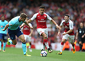 9th September 2017, Emirates Stadium, London, England; EPL Premier League Football, Arsenal versus Bournemouth; Alexis Sanchez of Arsenal on the ball with Simon Francis of Bournemouth marking