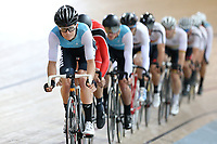 Joel Yates of West Coast North Island out front in the  Elite Men Omnium 1, Scratch race 10km at the Age Group Track National Championships, Avantidrome, Home of Cycling, Cambridge, New Zealand, Saturday, March 18, 2017. Mandatory Credit: © Dianne Manson/CyclingNZ  **NO ARCHIVING**