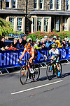 Anna Van Der Breggan (NED) and Amanda Spratt (AUS) 3rd and 4th on the first circuit of Harrogate during the Women Elite Road Race of the UCI World Championships 2019 running 149.4km from Bradford to Harrogate, England. 28th September 2019.<br /> Picture: Andy Brady | Cyclefile<br /> <br /> All photos usage must carry mandatory copyright credit (© Cyclefile | Andy Brady)