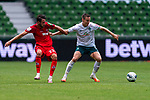 Mark Uth (FC Koeln #23), Marco Friedl (Werder Bremen #32)<br /> <br /> <br /> Sport: nphgm001: Fussball: 1. Bundesliga: Saison 19/20: 34. Spieltag: SV Werder Bremen vs 1.FC Koeln  27.06.2020<br /> <br /> Foto: gumzmedia/nordphoto/POOL <br /> <br /> DFL regulations prohibit any use of photographs as image sequences and/or quasi-video.<br /> EDITORIAL USE ONLY<br /> National and international News-Agencies OUT.