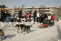 March 3, 2007   Aaron Burmeister during the Iditarod ceremonial start day in Anchorage