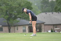 Brooke Matthews putts, Saturday, June 27, 2020 during the final round of the WAPT pro golf tournament in Bella Vista. Check out nwaonline.com/200627Daily/ for today's photo gallery. <br /> (NWA Democrat-Gazette/Charlie Kaijo)