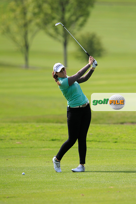 Olivia Mehaffey (RCD Ladies) on the 6th fairway during Round 1 of the Irish Women's Open Strokeplay Championship at Dun Laoghaire Golf Club on Saturday 23rd May 2015.<br /> Picture:  Thos Caffrey / www.golffile.ie