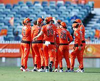 2nd November 2019; Western Australia Cricket Association Ground, Perth, Western Australia, Australia; Womens Big Bash League Cricket, Perth Scorchers versus Melbourne Stars; Perth Scorchers celebrate a wicket - Editorial Use