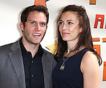 Steven Pasquale & Laura Benanti.attendingthe Broadway Opening Night Performance of 'Peter And The Starcatcher' at the Brooks Atkinson Theatre on 4/15/2012 in New York City.