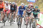 Philippe Gilbert (BEL) Deceuninck-Quick Step and other riders make their way back down to the team buses after Stage 9 of La Vuelta 2019 running 99.4km from Andorra la Vella to Cortals d'Encamp, Spain. 1st September 2019.<br /> Picture: Colin Flockton | Cyclefile<br /> <br /> All photos usage must carry mandatory copyright credit (© Cyclefile | Colin Flockton)