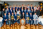 Austin Stacks football team at the Austin Stacks social at The Rose Hotel, Tralee, on Saturday night last.