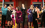 Kathleen Marshall, Kristen Anderson-Lopez and cast, Sara Wordsworth, Russ Kaplan and cast during the Broadway Opening Night Performance Curtain Call for 'In Transit' at Circle in the Square Theatre on December 11, 2016 in New York City.