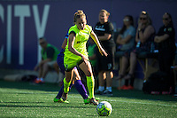 Orlando, Florida - Sunday, May 8, 2016: Seattle Reign FC defender Elli Reed (7) during a National Women's Soccer League match between Orlando Pride and Seattle Reign FC at Camping World Stadium.