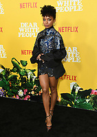 "01 August 2019 - Los Angeles, California - Logan Browning. Netflix's ""Dear White People"" Season 3 Los Angeles Premiere held at TRegal Cinemas LA Live. Photo Credit: Birdie Thompson/AdMedia"