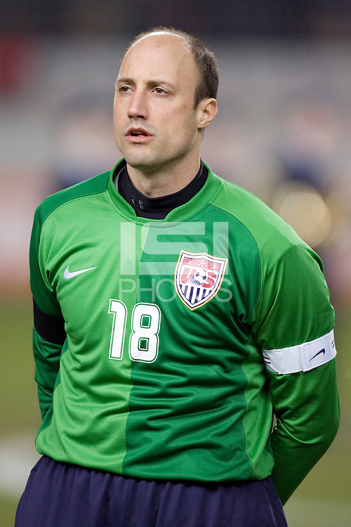Kasey Keller prepares for the match at Fritz-Walter Stadium, Kaiserslautern, Germany, Wednesday, March 1, 2006. USA 1-0.
