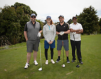 Bree Gill poses with other players that joined her during her first round on Sunday at the NZPWG Women's Pro-Am in Memory of Anita Boon, played at the Remuera Golf Course.