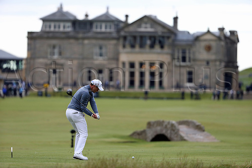 19.07.2015. Old Course, St Andrews, Fife, Scotland.  Danny Willett of England in action on the 18th hole during the third round of the 144th British Open Championship at the Old Course, St Andrews in Fife, Scotland.