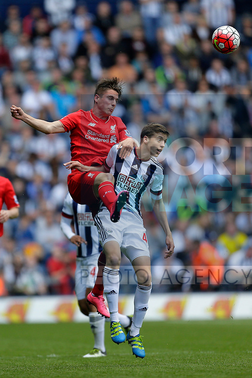 Sergi Canos of Liverpool competes with Sam Field of West Bromwich Albion during the Barclays Premier League match at The Hawthorns.  Photo credit should read: Malcolm Couzens/Sportimage