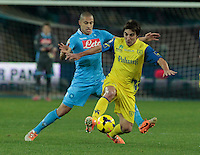 Gokhan Inler   in action during the Italian Serie A soccer match between SSC Napoli and Chievo  at San Paolo stadium in Naples, January 25, 2014