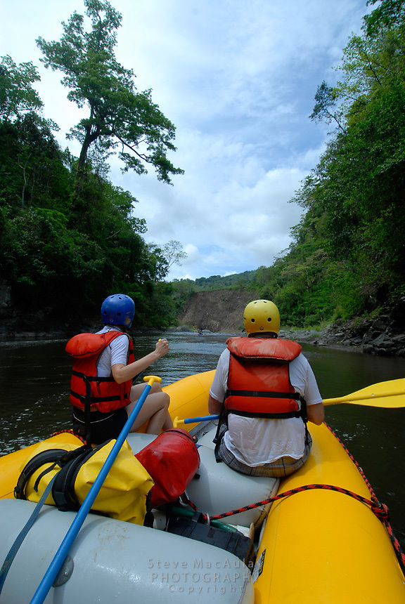 River rafting on the Chiriqui Viejo, Panama