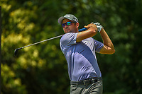 Corey Conners (CAN) watches his tee shot on 9 during round 4 of the Fort Worth Invitational, The Colonial, at Fort Worth, Texas, USA. 5/27/2018.<br /> Picture: Golffile | Ken Murray<br /> <br /> All photo usage must carry mandatory copyright credit (© Golffile | Ken Murray)
