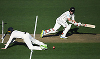 Tom Latham batting.<br /> New Zealand Blackcaps v England. 1st day/night test match. Eden Park, Auckland, New Zealand. Day 1, Thursday 22 March 2018. &copy; Copyright Photo: Andrew Cornaga / www.Photosport.nz