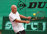 Netherlands, Amstelveen, August 21, 2015, Tennis,  National Veteran Championships, NVK, TV de Kegel,  Bé Lenten<br /> Photo: Tennisimages/Henk Koster