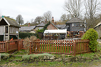 BNPS.co.uk (01202 558833)<br /> Pic: BNPS<br /> <br /> Pictured: The 'Ye Olde Two Brewers Inn' pictured today  <br /> <br /> These charming photos reveal everyday life at the turn of the 20th century in a thriving market town later made famous by a TV advert.<br /> <br /> The black and white snapshots of Shaftesbury, Dorset, were taken by Albert Tyler who set up a photography business there in 1901.<br /> <br /> There are various street scenes and also images of the locals in traditional attire, with men in flatcaps and women in bonnets.<br /> <br /> Tyler photographed the busy opening of the town market in 1902, and a garden party where men played croquet.