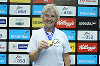 PICTURE BY VAUGHN RIDLEY/SWPIX.COM - Swimming - ASA Masters and Senior Age Group Championships 2012 - Ponds Forge, Sheffield, England - 27/10/12 - Elaine Bromwich, GB Record in the Women's 200m Breaststroke 70-74.