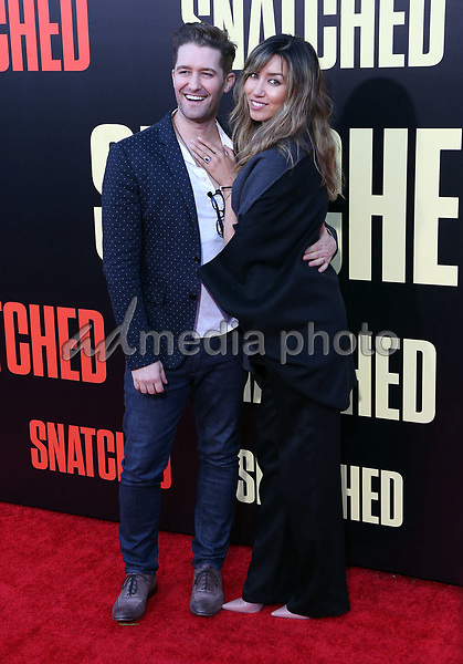 "10 May 2017 - Westwood, California - Matthew Morrison, Renee Morrison. ""Snatched"" World Premiere held at the Regency Village Theatre. Photo Credit: AdMedia"