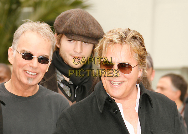 BILLY BOB THORNTON, ASHTON KUTCHER & DON JOHNSON.Attend the ceremony as Bruce Willis is honored with the 2,321 Star on The Hollywood Walk of Fame outside Grauman's Chinese Theatre on Hollywood Boulevard, Hollywood, California, USA, 16 October 2006..portrait headshot jonson sunglasses cap hat.Ref: ADM/RE.www.capitalpictures.com.sales@capitalpictures.com.©Russ Elliot/AdMedia/Capital Pictures.
