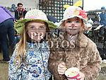 Robyn Lally Kermath and Niamh Black who took part in the Easter Bonnet competition in Sage and Stone Duleek. Photo:Colin Bell/pressphotos.ie