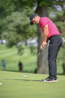 Paul Casey (GBR) watches his putt on 2 during 1st round of the World Golf Championships - Bridgestone Invitational, at the Firestone Country Club, Akron, Ohio. 8/2/2018.<br /> Picture: Golffile | Ken Murray<br /> <br /> <br /> All photo usage must carry mandatory copyright credit (&copy; Golffile | Ken Murray)
