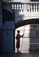 Vatican City Swiss Guard.Pope Francis during of a weekly general audience at St Peter's square in Vatican, Wednesday.September 11, 2019