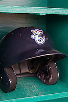 Corpus Christi Hooks helmet on May 10, 2015 at Nelson Wolff Stadium in San Antonio, Texas. The Missions defeated the Hooks 6-5. (Andrew Woolley/Four Seam Images)