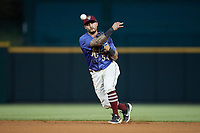 Frisco RoughRiders Christian Lopes (54) throws to first base during a Texas League game against the Springfield Cardinals on May 4, 2019 at Dr Pepper Ballpark in Frisco, Texas.  (Mike Augustin/Four Seam Images)